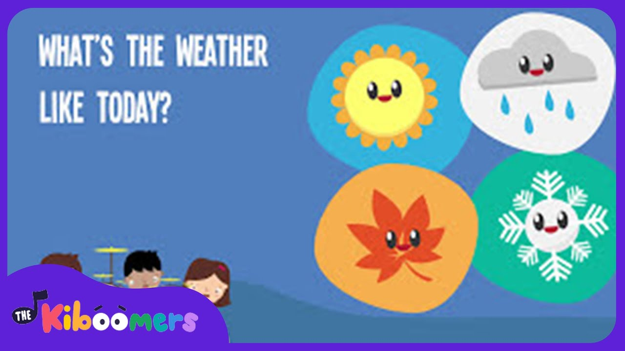 Like Weather What What S The Weather Like Today Song Lyrics Video For Kids The Kiboomers