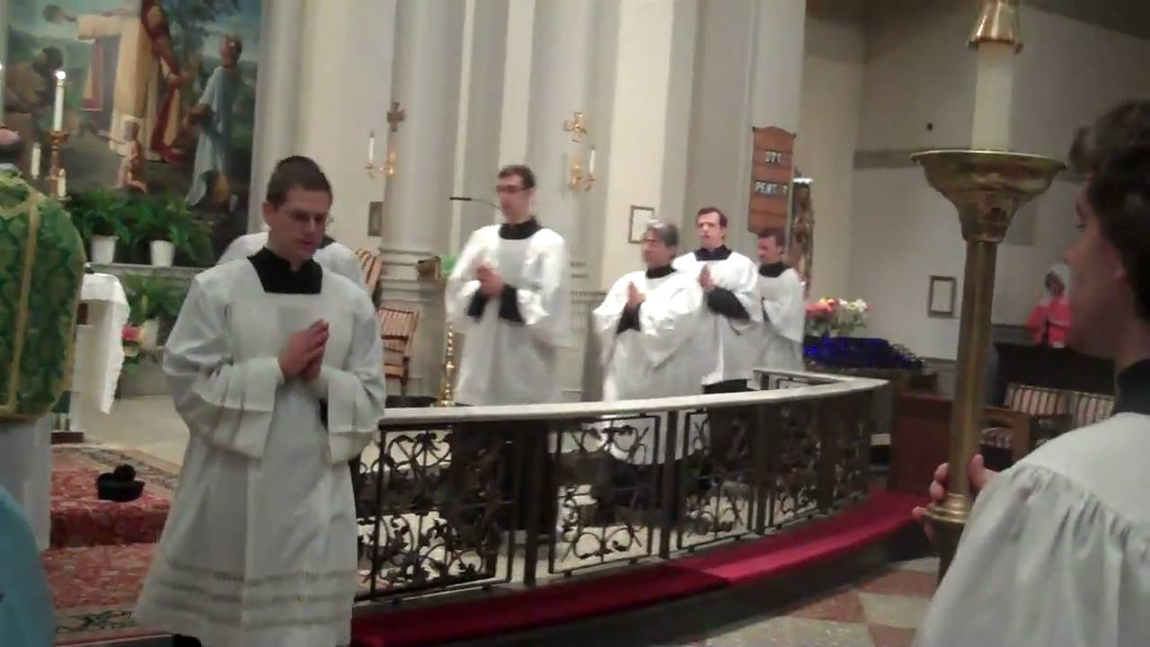 Tridentine Mass - St  Agnes Church NYC - Recessional