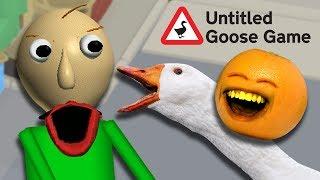 ANNOYING BALDI in Untitled Goose Game!!! 😂