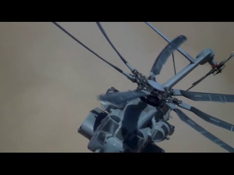 What it's like flying the CH-53K helicopter into a brownout