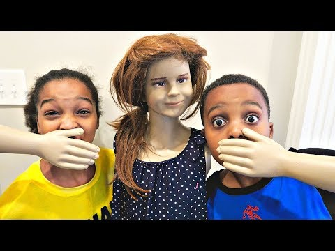 Thumbnail: Bad Baby Mannequin ATTACKS - Shasha and Shiloh Creepy Stalker - Onyx Kids