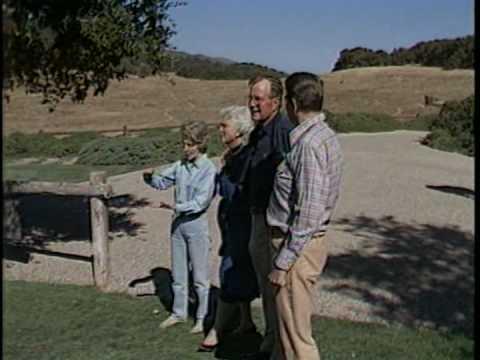 The Reagans Greet the Bushes at Rancho del Cielo