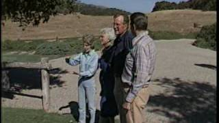 The Reagans Greet the Bushes at Rancho del Cielo