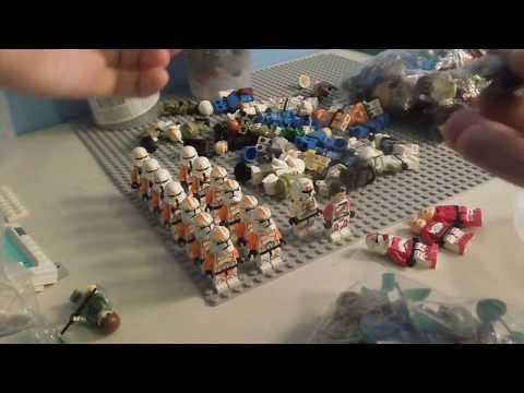 Un colis rempli de 236 figurines Lego star wars et autre