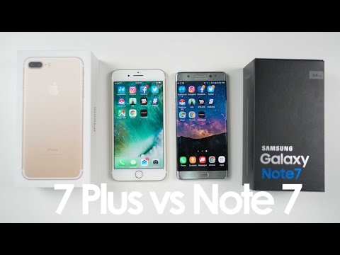 iPhone 7 Plus vs Samsung Galaxy Note 7 SPEED TEST and Comparison
