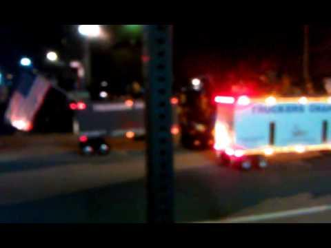 Mini tractor trailer trucks in the parade
