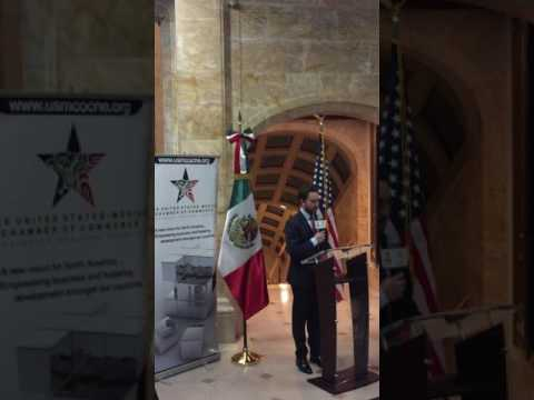 Director of Economic Development speaks at the US-Mexico Chamber of Commerce 95th Anniversary event
