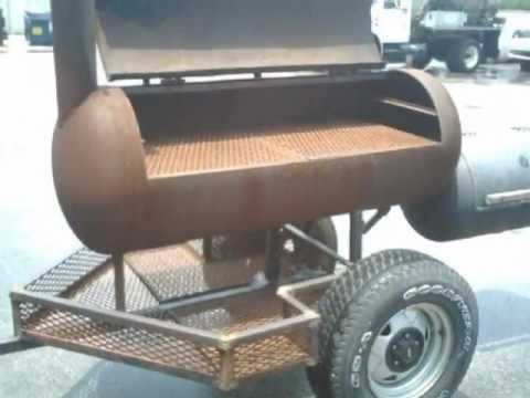 Build A Smoker Trailer Out Of Junk Youtube