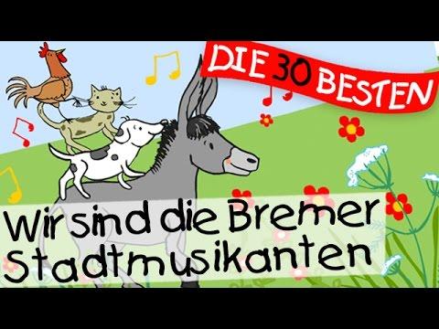 Wir sind die Bremer Stadtmusikanten - Märchenlieder zum Mitsingen || Kinderlieder