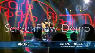 André Zuniga - Here I Come/Från Och Med Du - Idol 2011