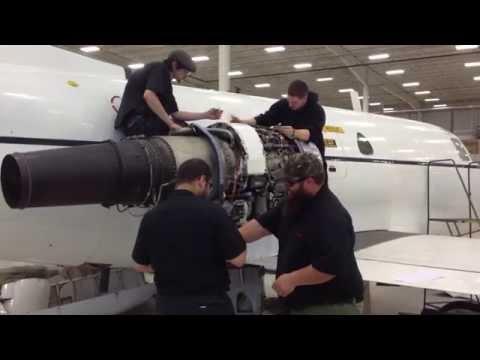 Pratt and Whitney JT-12 Engine Change
