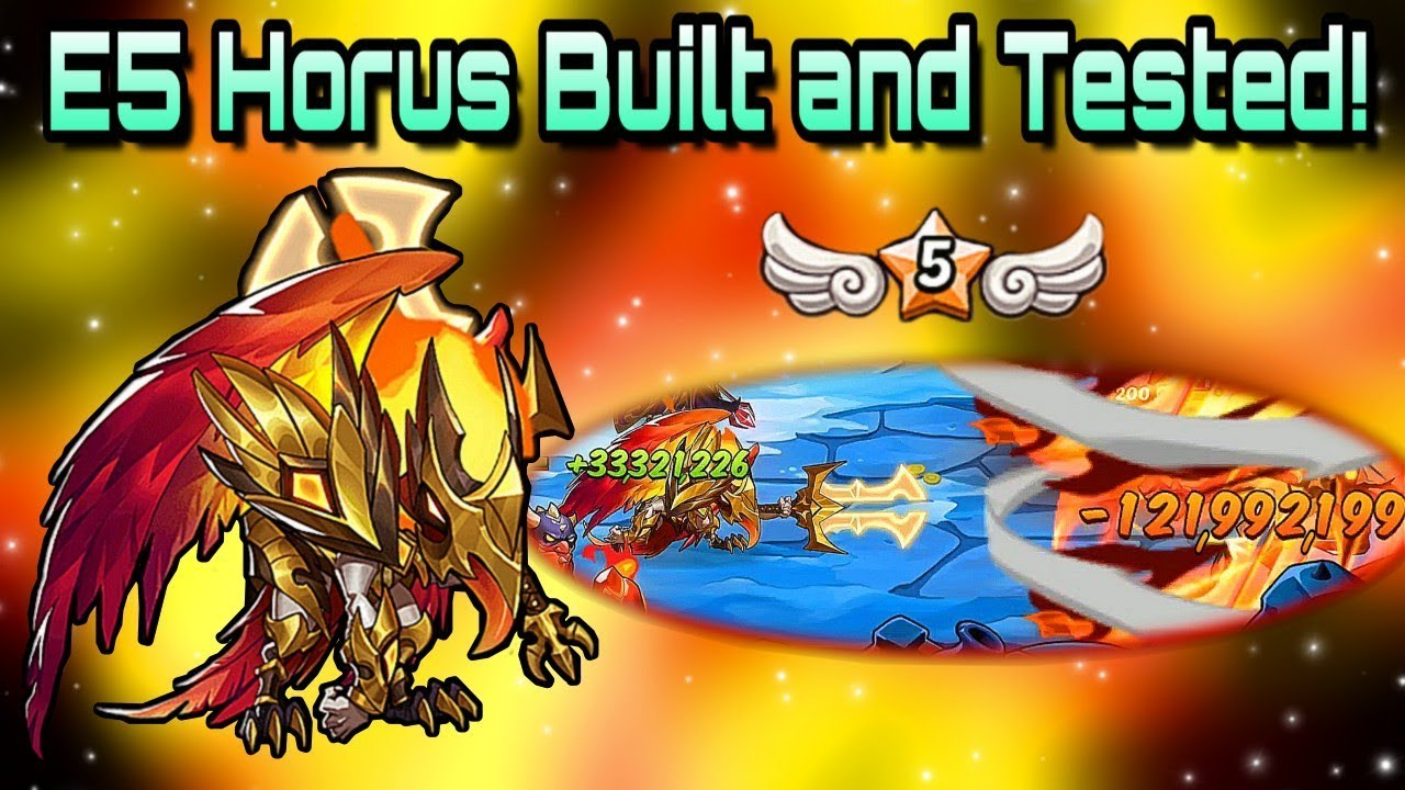 Idle Heroes (O+) - Making and Testing an E5 Horus! - Best Builds For PvE
