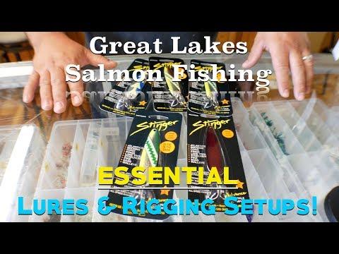 Great Lakes Salmon Kayak Fishing - ESSENTIAL Lures & Rigging Setups! (4K)