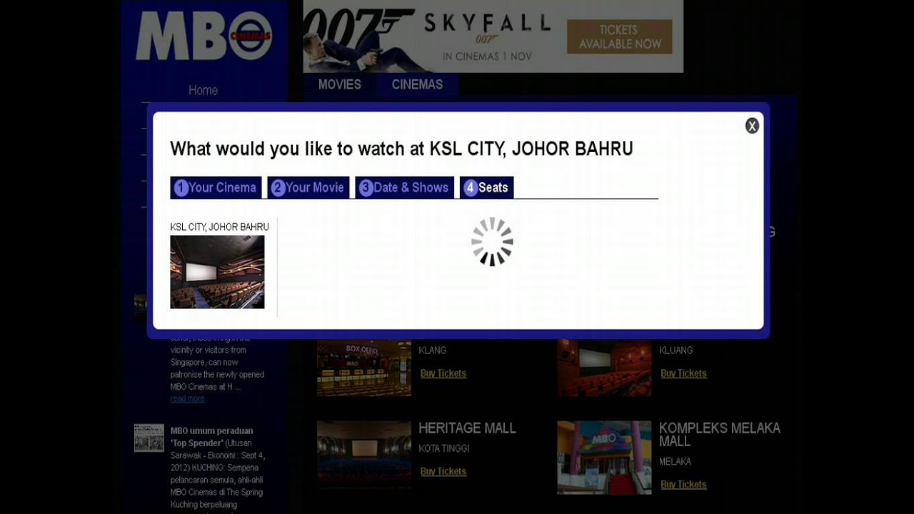 Mbo Cinemas Booking Tickets By Selecting A Cinema Youtube