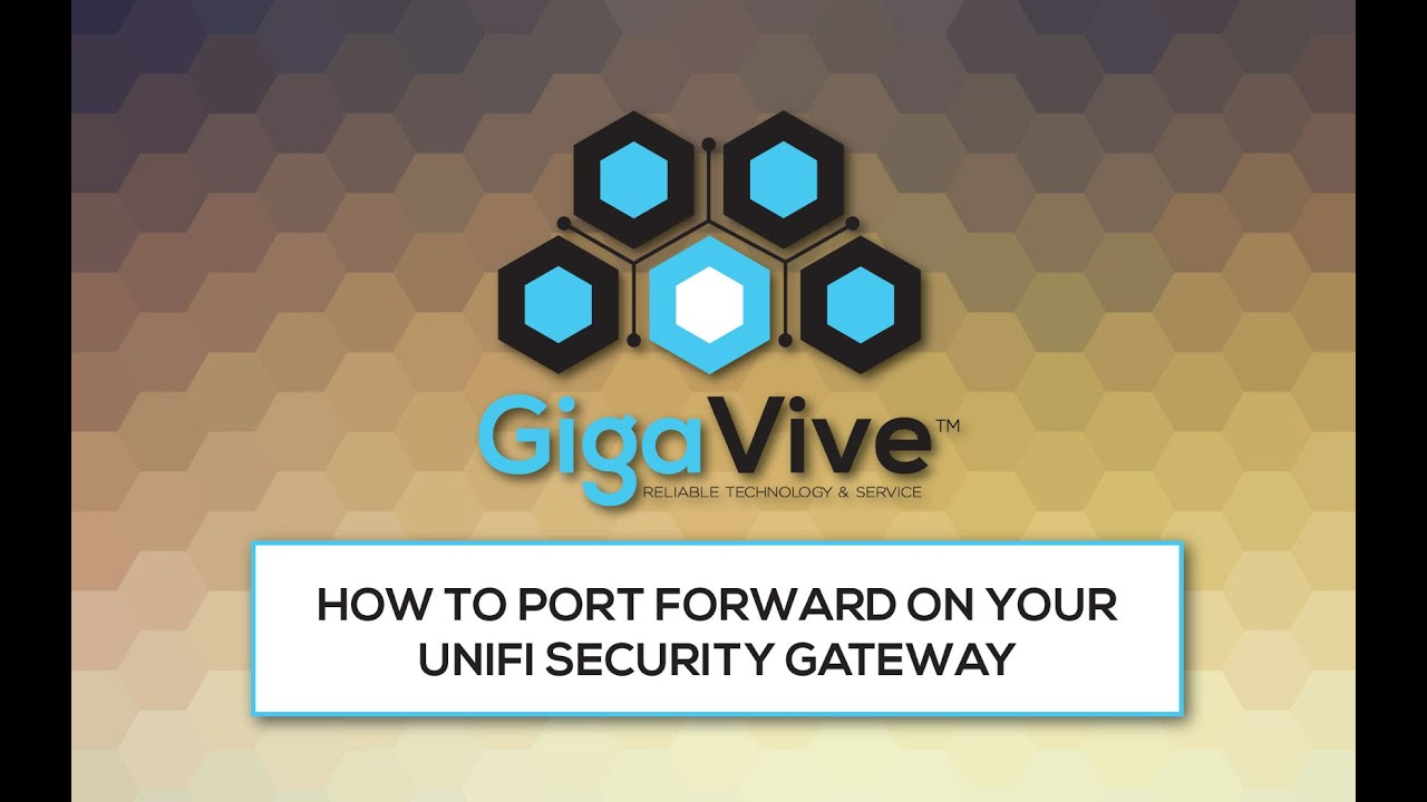 How to Port Forward on your UniFi Security Gateway