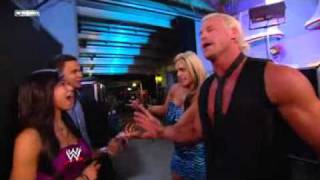 WWE NXT 11/2/10 Dolph Ziggler & Kaitlyn Kissing Backstage