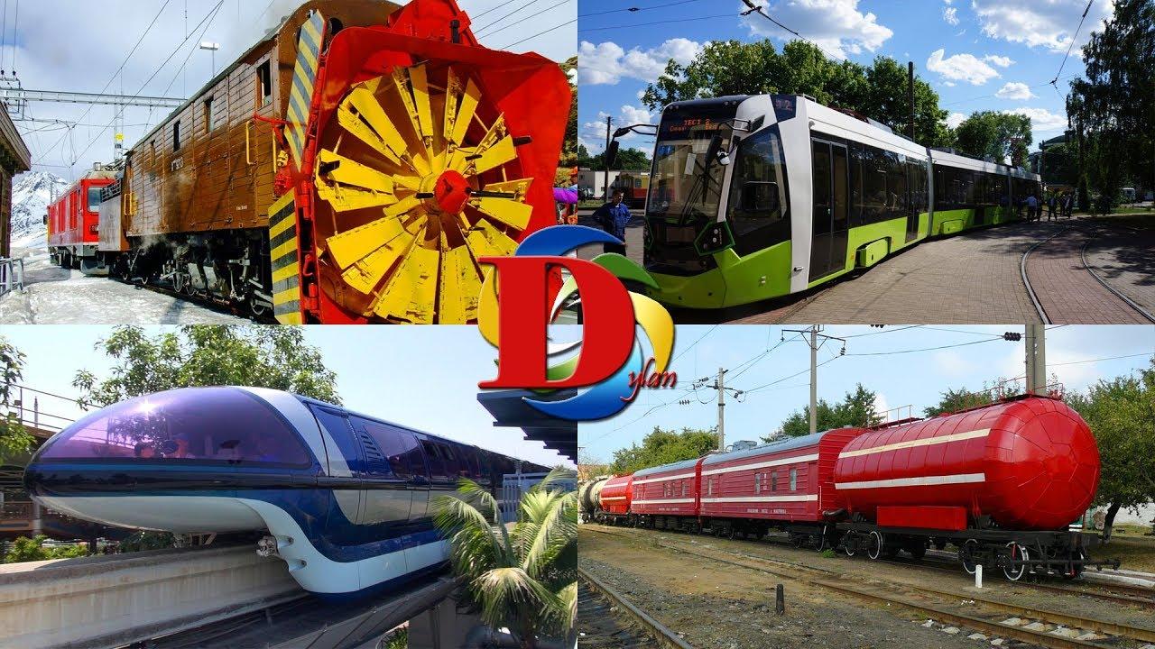 Изучаем поезда и железнодорожный транспорт для детей / Обучающее видео про железную дорогу
