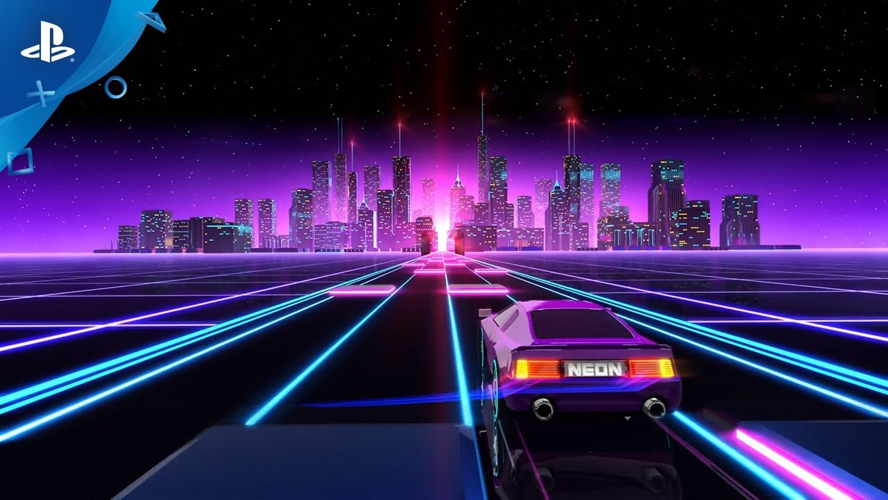 Neon Drive Announce Trailer Ps4 Youtube