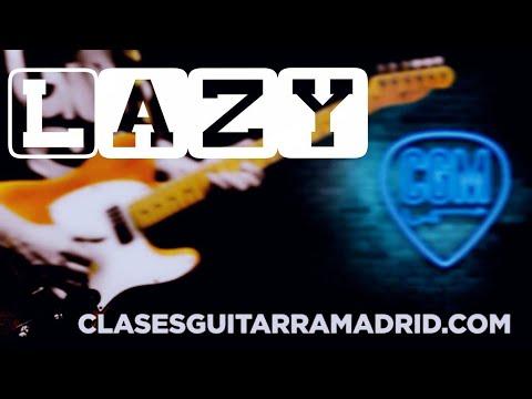 Lazy (Deep Purple) Intro Guitar Lesson TAB & Backing track
