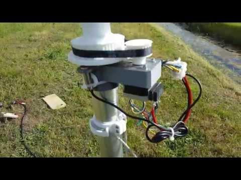 3D printed Lenz2 helical wind turbine testing