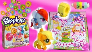 Shopkins Supermarket Scramble Mlp Fash'ems Rainbow Dash Apple Jack My Little Pony Game Exclusive