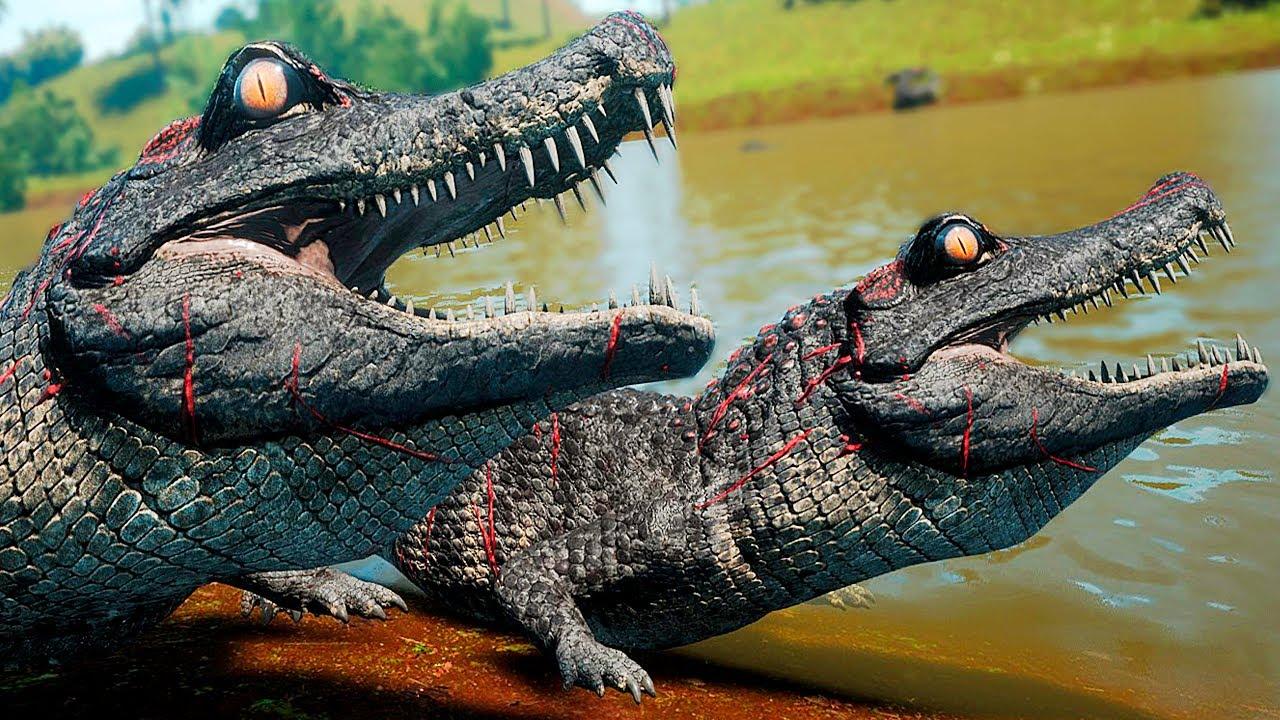 Download Família de Deinosuchus + Filhotes em Perigo! Nas Garras do Utahraptor   The Isle Evrima   (PT/BR)