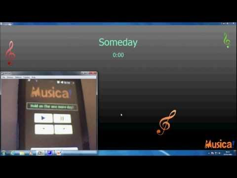 Musica! - MP3 player software controlled by a smartphone