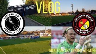 Boreham wood fans try to fight Ashmore(Fleet GK)!Boreham wood vs Ebbsfleet United vlog!