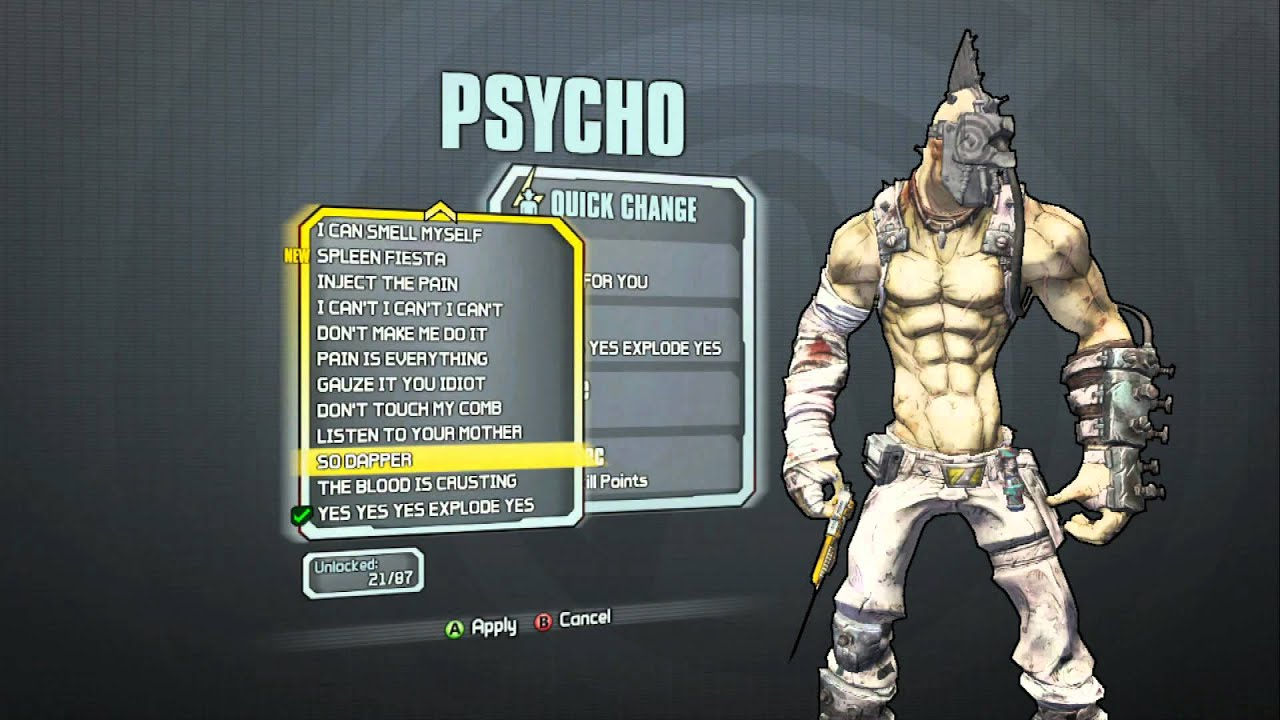 Borderlands 2 - Krieg The Psycho Coming For You Head