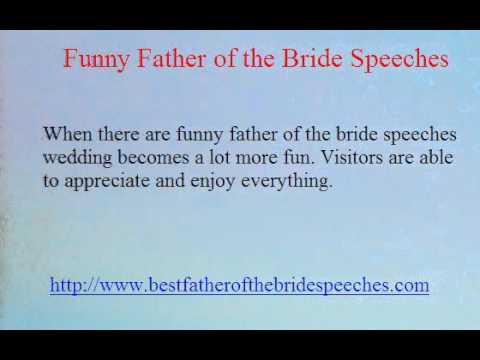 Funny Father Of The Bride Speeches