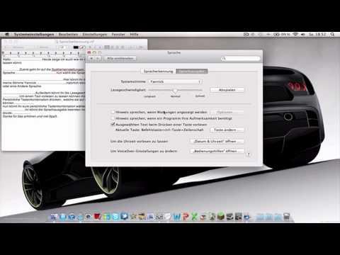 OSX - Sprachausgabe (Stimme ändern, Sprache ändern, etc.) (GERMAN)