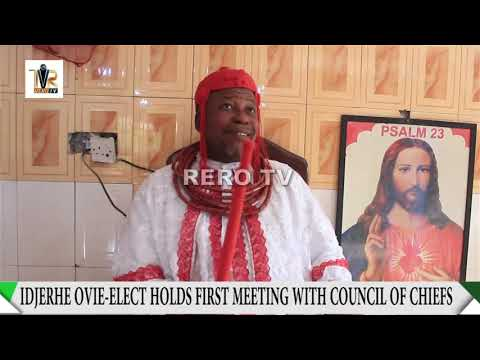 IDJERHE KINGSHIP : OMASORO STRIPPED OF TITLES AS NEW OVIE-ELECT HOLDS FIRST COUNCIL MEETING