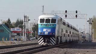 Sounder commuter train departs Auburn, WA for Seattle