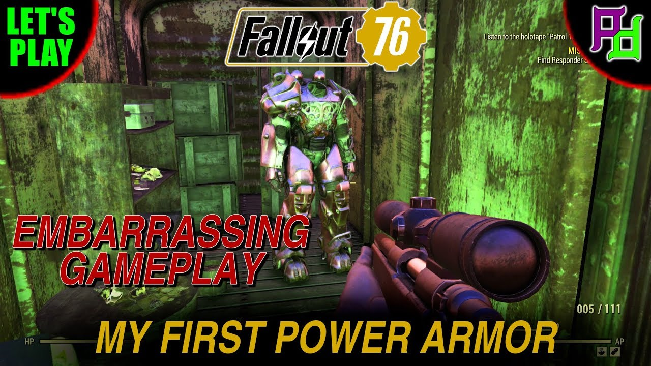 My First Power Armor is Embarrassing Fallout 76 Lets Play / Gameplay