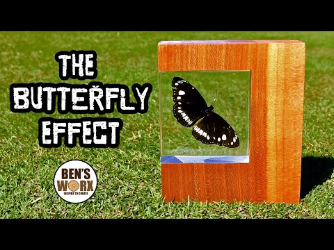 Making The Butterfly Effect with LED's - Insect in Resin