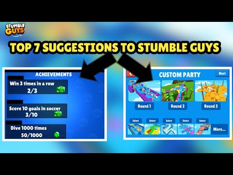 TOP BEST SUGGESTIONS TO STUMBLE GUYS|| STUMBLE GUYS FEATURE SUGGESTIONS!