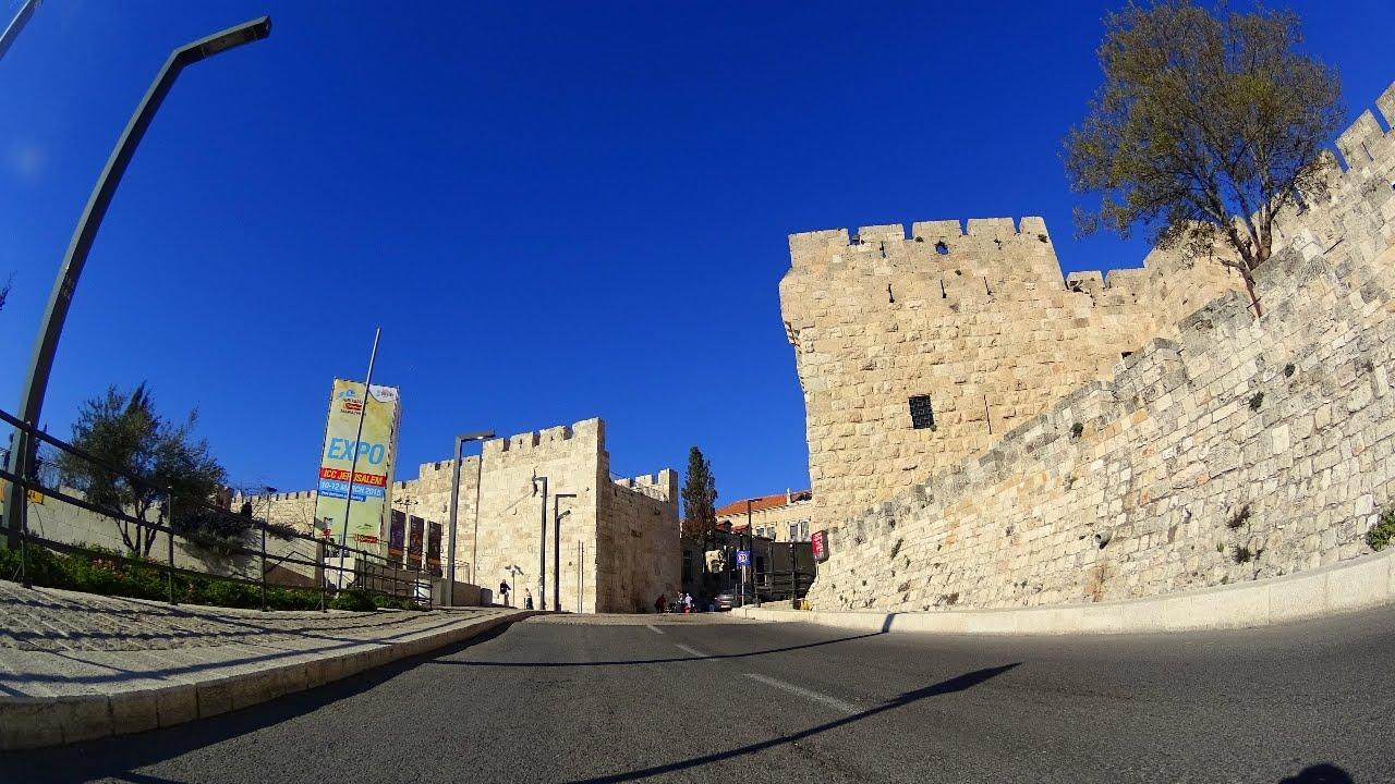 4K walk through the Jaffa Gate into Jerusalem