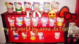 diy display shelves for your hello kitty figures