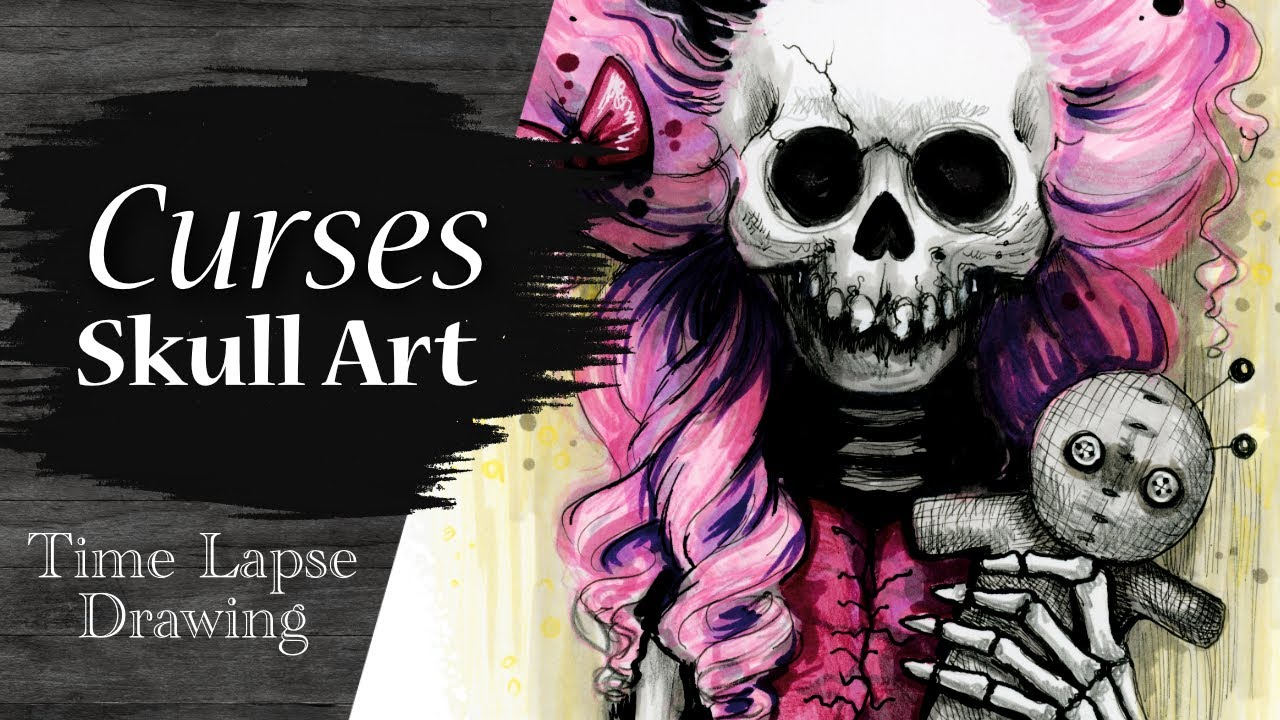 Curses & Hexes Skully Time Lapse Video