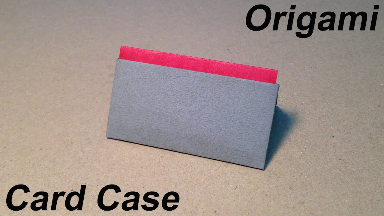 How to Make a Paper Card Case / Origami Card Case / Easy for ...