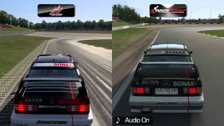 Assetto Corsa vs RaceRoom - Mercedes-Benz 190E 2.5 EVO II DTM at Nurburgring