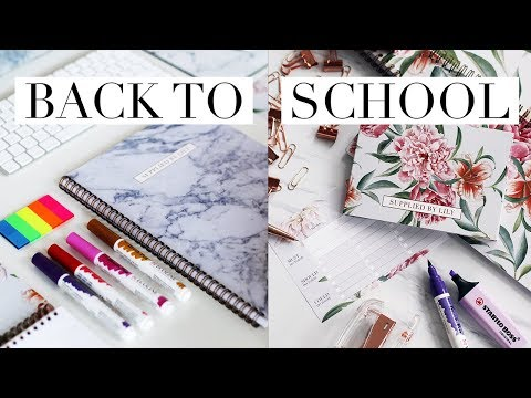 BACK TO SCHOOL/UNIVERSITY SUPPLIES & STATIONERY HAUL 2017 + GIVEAWAY