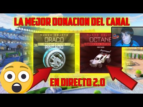 REACCIÓN SUSCRIPTOR ME REGALA OCTANE BLANCO EN DIRECTO 2.0 ROCKET LEAGUE