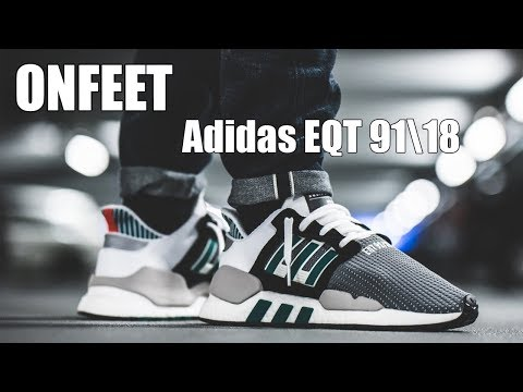 "ONFEET Adidas EQT 91\18 ""White\Sub Green\Black"" (AQ1037)"