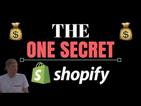 The ONE Secret To Success With Shopify Dropshipping