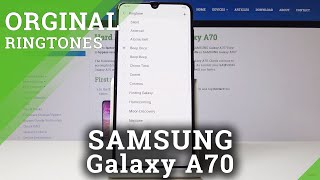 Check more: https://www.hardreset.info/devices/samsung/samsung-galaxy-a70/ we are presenting our video guide where you're able to enter ringtone settings and...