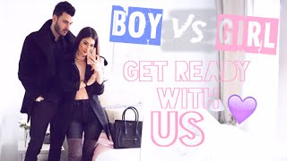 BOY VS GIRL: GET READY WITH... US! ♡ - Lufy