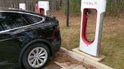 My First Ever Use of a Tesla Supercharger :)