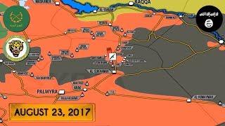 23 августа 2017. Военная обстановка в Сирии. Сообщения о бегстве ИГИЛ из котла к северу от Пальмиры.