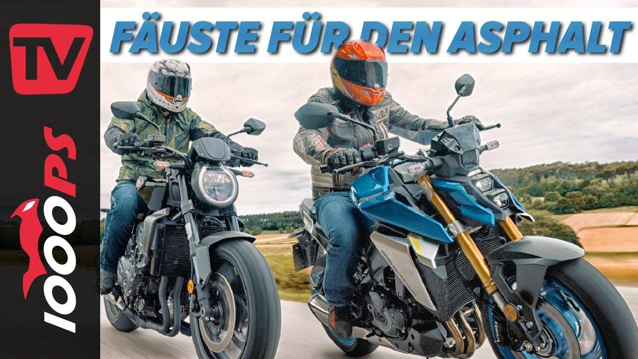Wahre Power Naked Bikes! Suzuki GSX-S1000 vs. Honda CB1000R Black Edition Vergleich